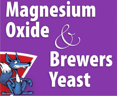 Magnesium oxide and brewers yeast
